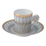 Deshoulieres Arcades Grey & Matte Gold Coffee Saucer, MPN: 030539, UPC/EAN: 3104363011684