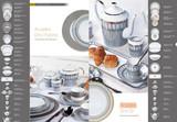 Deshoulieres Arcades Grey & Matte Gold Rim Soup Plate, MPN: 030468, UPC/EAN: 3104363011912