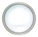 Deshoulieres Arcades Grey & Matte Gold Round Deep Platter, MPN: 033906, UPC/EAN: 3104363068350