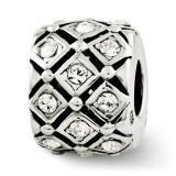 April Swarovski Elements Bead - Sterling Silver QRS2686APR