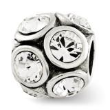 April Swarovski Elements Bead - Sterling Silver QRS2687APR