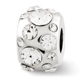 April Swarovski Elements Bead - Sterling Silver QRS2688APR