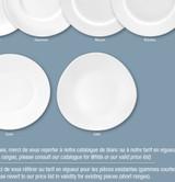 Deshoulieres Galets White Dinner Plate, MPN: AP-GA, UPC/EAN: 3104361031417