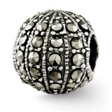 Marcasite Bead - Sterling Silver QRS2725