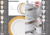 Deshoulieres Royal Trianon Gold Rectangular Cake Platter, MPN: PCK-RI7070, UPC/EAN: 3104360937383