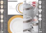 Deshoulieres Royal Trianon Platinum Tea Saucer, MPN: ST-RI6825, UPC/EAN: 3104360607729