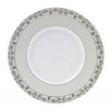Deshoulieres Tuileries White Dessert Plate, MPN: 034861, UPC/EAN: 3104363096230