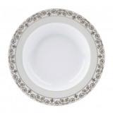 Deshoulieres Tuileries White Rim Soup Plate, MPN: 036484, UPC/EAN: 3104363177540