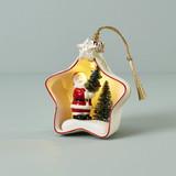 Lenox Lit Santa Star Scene Ornament, MPN: 890855, UPC: 194372000796