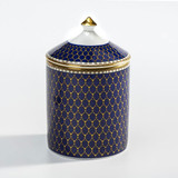 Halcyon Days GC Antler Trellis Midnight Gold Jasmine Lidded Candle , MPN: BCGAT11LCG