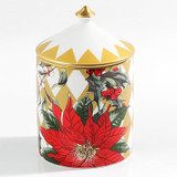 Halcyon Days Parterre Gold with Poinsettia Lidded Candle Cinnamon & Orange, MPN: BCPAF16LCG