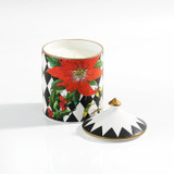 Halcyon Days Parterre Black with Poinsettia Lidded Candle Cinnamon & Orange, MPN: BCPAF02LCG
