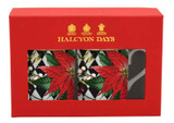 Halcyon Days Parterre Black with Poinsettia Mug Set, MPN: BCPBW01MSG