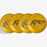 Halcyon Days MW Twin Leopard & Tiger Gold Coaster Set , MPN: BCMLT16SCG