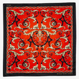 Halcyon Days Wallace Balustrade Deep Red 90cm x 90cm 100% Silk Scarf, MPN: SAWBA06SS90