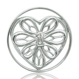 Nikki Lissoni Peaceful Heart Silver Plated 33mm Coin, MPN: C1006SM UPC: 8718627460207