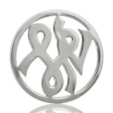 Nikki Lissoni Courage Silver Plated 33mm Coin, MPN: C1008SM UPC: 8718627460269