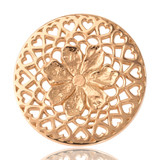 Nikki Lissoni Flower With Love Gold Plated 33mm Coin, MPN: C1013GM UPC: 8718627460399
