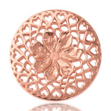 Nikki Lissoni Flower With Love Rose Gold Plated 33mm Coin, MPN: C1013RGM UPC: 8718627460405