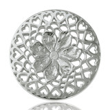 Nikki Lissoni Flower With Love Silver Plated 33mm Coin, MPN: C1013SM UPC: 8718627460412