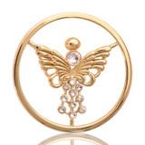 Nikki Lissoni Fragile Life Gold Plated 33mm Coin, MPN: C1014GM UPC: 8718627460429