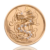 Nikki Lissoni Chinese Dragon Gold Plated 33mm Coin, MPN: C1019GM UPC: 8718627460573