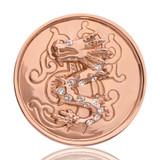 Nikki Lissoni Chinese Dragon Rose Gold Plated 33mm Coin, MPN: C1019RGM UPC: 8718627460580