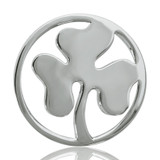 Nikki Lissoni Clover Silver Plated 33mm Coin, MPN: C1023SM UPC: 8718627460719