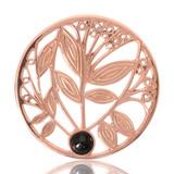 Nikki Lissoni Black Onyx Tree Rose Gold Plated 33mm Coin, MPN: C1024RGM UPC: 8718627460733