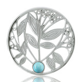 Nikki Lissoni Blue Turquoise Tree Gold Plated 33mm Coin, MPN: C1024SM UPC: 8718627460740