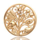 Nikki Lissoni Fantasy Tree Gold Plated 33mm Coin, MPN: C1025GM UPC: 8718627460757