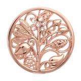 Nikki Lissoni Fantasy Tree Rose Gold Plated 33mm Coin, MPN: C1025RGM UPC: 8718627460764