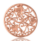 Nikki Lissoni Baroque Hearts Rose Gold Plated 33mm Coin, MPN: C1026RGM UPC: 8718627460795