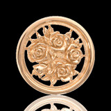 Nikki Lissoni Bouquet With Roses Two-Sided Gold Plated 23mm Coin, MPN: C1027GS UPC: 8718627460818