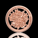 Nikki Lissoni Bouquet With Roses Two-Sided Rose Gold Plated 23mm Coin, MPN: C1027RGS UPC: 8718627460825