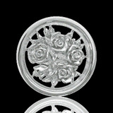 Nikki Lissoni Bouquet With Roses Two-Sided Silver Plated 23mm Coin, MPN: C1027SS UPC: 8718627460832