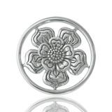 Nikki Lissoni Lovely Flower Silver Plated 23mm Coin, MPN: C1028SS UPC: 8718627460863
