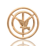 Nikki Lissoni Peace Pigeon Gold Plated 23mm Coin, MPN: C1029GS UPC: 8718627460870