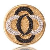 Nikki Lissoni Black Vs. White Gold Plated 33mm Coin, MPN: C1030GM UPC: 8718627460900