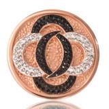 Nikki Lissoni Black Vs. White Rose Gold Plated 33mm Coin, MPN: C1030RGM UPC: 8718627460917