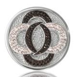 Nikki Lissoni Black Vs. White Silver Plated 33mm Coin, MPN: C1030SM UPC: 8718627460924