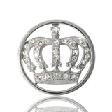 Nikki Lissoni Royal Crown Silver Plated 23mm Coin, MPN: C1038SS UPC: 8718627461105