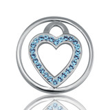 Nikki Lissoni Love Keeper Silver Plated 23mm Coin, MPN: C1039SS04 UPC: 8718627461181