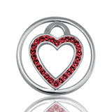 Nikki Lissoni Love Keeper Silver Plated 23mm Coin, MPN: C1039SS05 UPC: 8718627461198