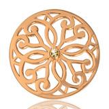Nikki Lissoni Baroque Fantasy Gold Plated 33mm Coin, MPN: C1040GM02 UPC: 8718627461211