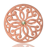 Nikki Lissoni Baroque Fantasy Rose Gold Plated 33mm Coin, MPN: C1040RGM01 UPC: 8718627461235