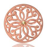 Nikki Lissoni Baroque Fantasy Rose Gold Plated 33mm Coin, MPN: C1040RGM02 UPC: 8718627461242