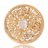 Nikki Lissoni Kingdom Of Roses Gold Plated 33mm Coin, MPN: C1041GM UPC: 8718627461297