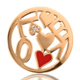 Nikki Lissoni Chaotic Love Gold Plated 33mm Coin, MPN: C1050GM UPC: 8718627461501