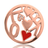 Nikki Lissoni Chaotic Love Rose Gold Plated 33mm Coin, MPN: C1050RGM UPC: 8718627461518
